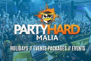 Party Hard Malia Events Package 2018